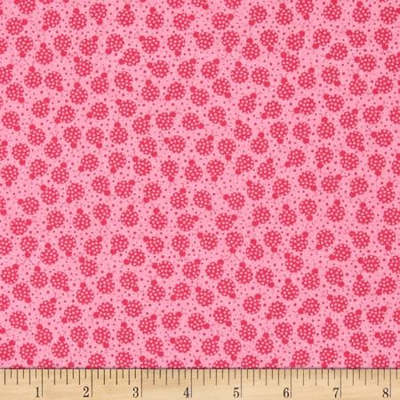 My Lil Lady Tonal lady Bugs Pink Fabric
