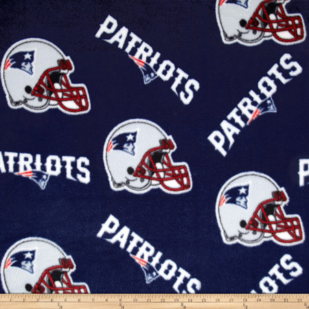 NFL Fleece New England Patriots Fabric By The Yard