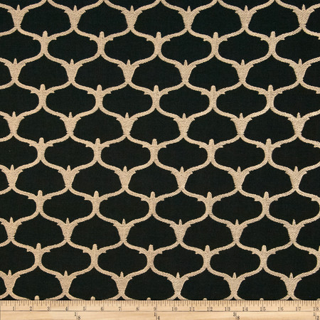 Nate Berkus Grenelle Embroidered Ebony Fabric