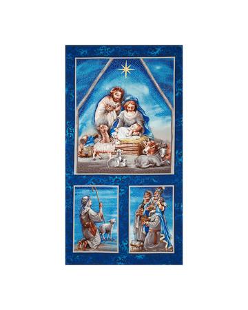 Nativity Metallic 23 In. Panel Multi Fabric By The Yard