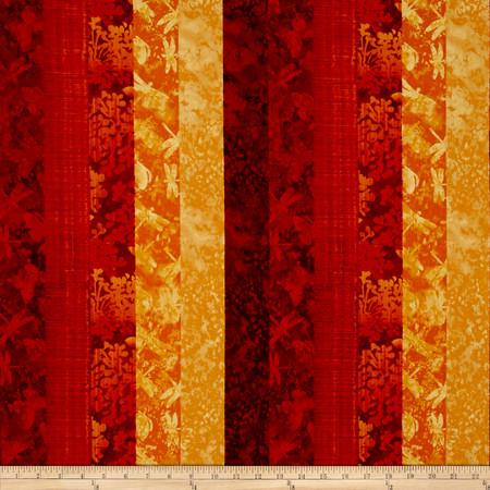 Nature Studies Multi Stripe Orange Fabric
