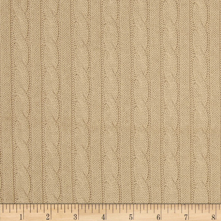 Nautica Beckery Cable Knit Natural Fabric
