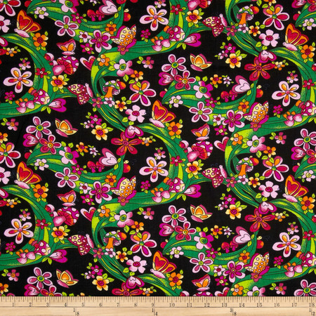 Newcastle Novelties Garden Black Fabric