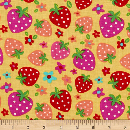 Newcastle Novelties Strawberry Yellow Fabric