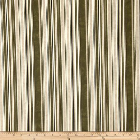 Normandy Court Pencil Stripe Brown/Cream Fabric