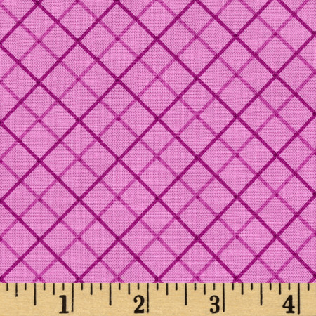 Not So Spooky Bias Plaid Purple Fabric