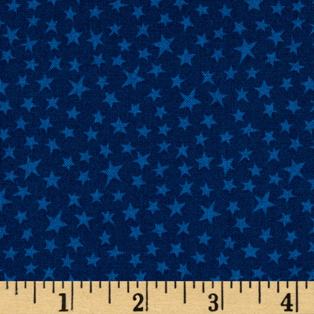 Not So Wild West Stars Dark Blue Fabric By The Yard