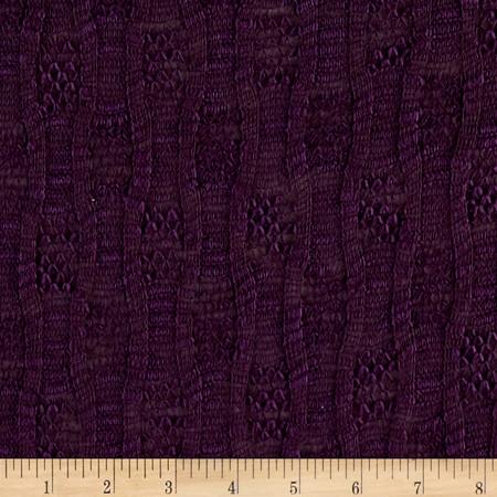 Novelty Sweater Knit Purple Fabric