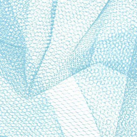 Nylon Net Light Blue Fabric By The Yard