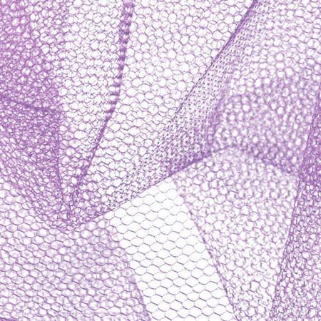 Nylon Net Pansy Purple Fabric By The Yard
