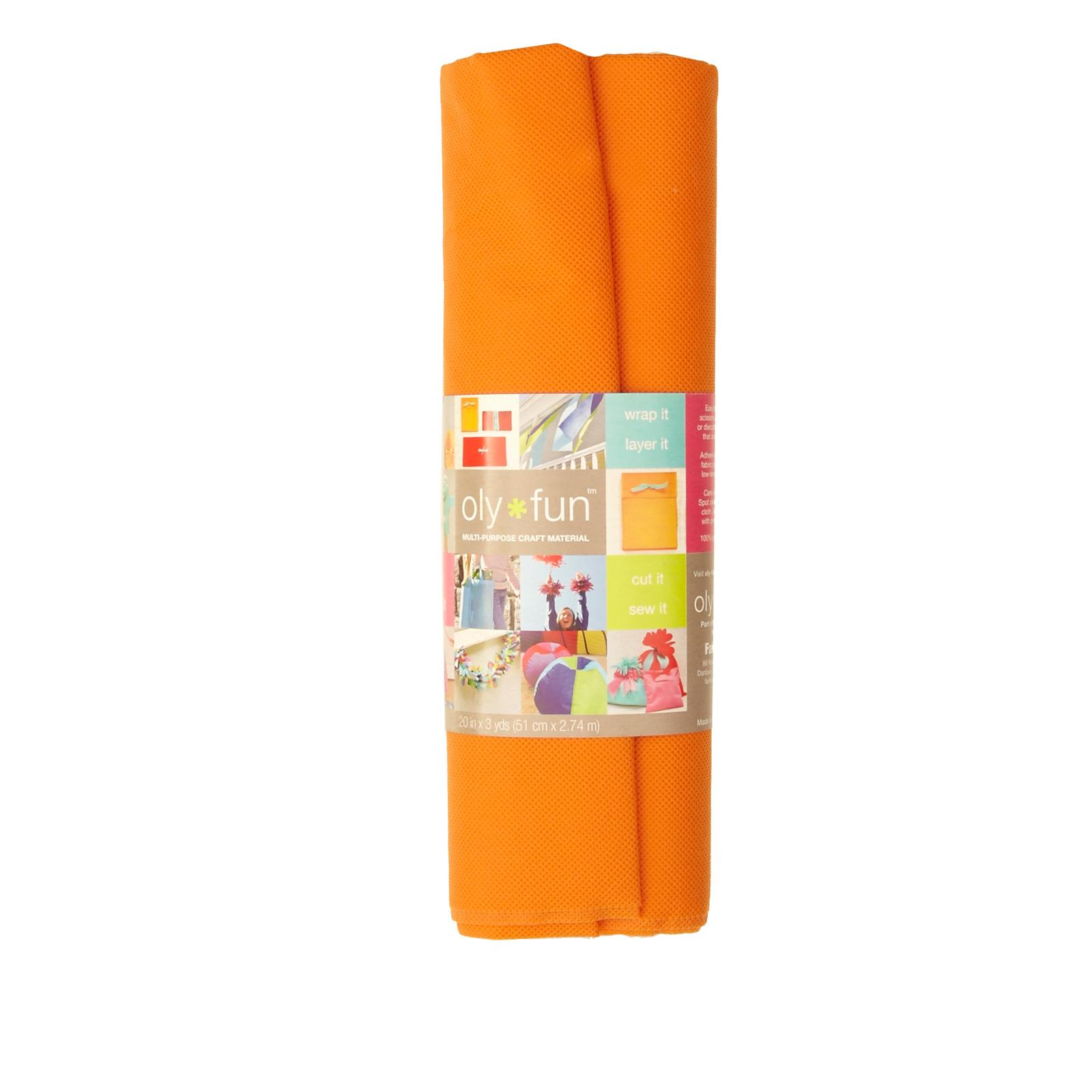 OLYFUN Multi Purpose Craft Fabric Orange Crush