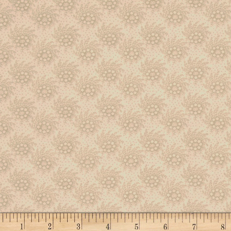 Old Sturbridge Village Bouquet Tan Fabric By The Yard