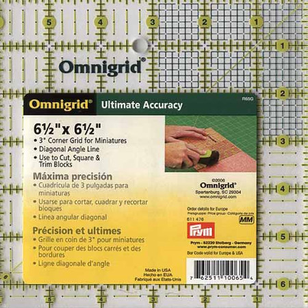 Omnigrid Quilter's Ruler 6.5 x 6.5