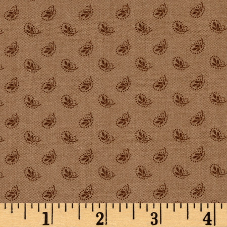 On Plumberry Lane Little Flower Tan Fabric By The Yard