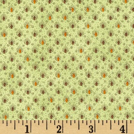 Ophelia Mini Medallion Green Fabric