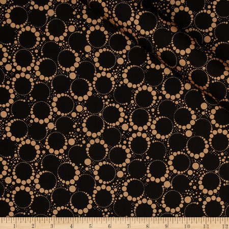 Orbit Metallic Small Circle Dot Copper/Black Fabric