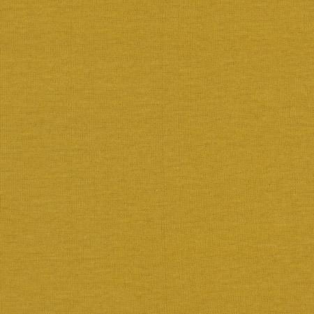 Telio Organic Cotton Baby Rib Knit Yellow Fabric By The Yard