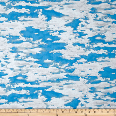 Our National Parks Clouds Blue Fabric