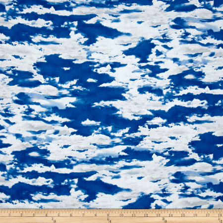 Our National Parks Clouds Dark Blue Fabric