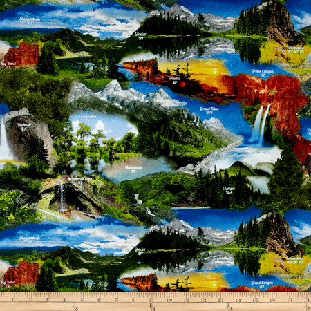 Our National Parks Scenic Multi Fabric