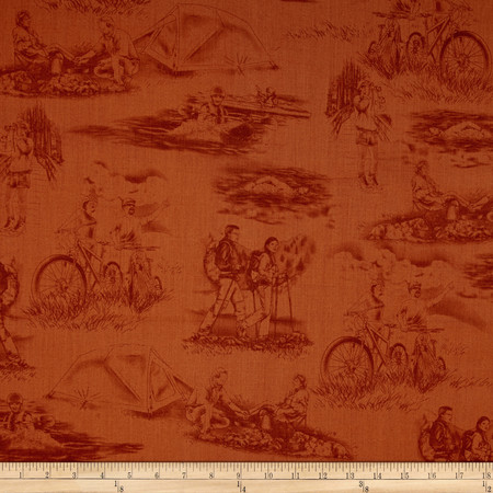 Our National Parks Toile Brown Fabric