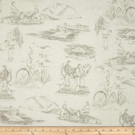 Our National Parks Toile Tan Fabric