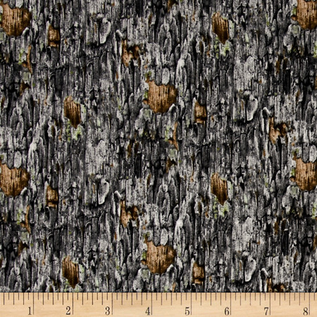Owl Families Tree Bark Gray Fabric By The Yard