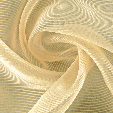 P Kaufmann 115'' Fine Line Sheer Gold Fabric
