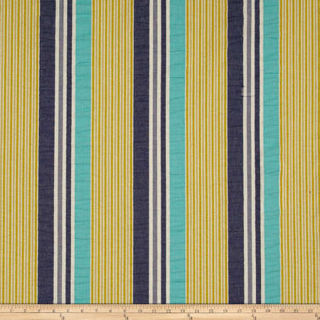 P Kaufmann Brielle Seersucker Stripe Island Fabric By The Yard