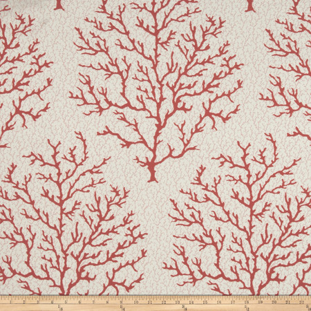 P Kaufmann Coral Craze Jacquard Red Snapper Fabric