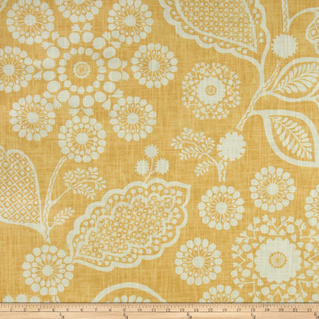 P Kaufmann Garden Craft Slub Yolk Fabric