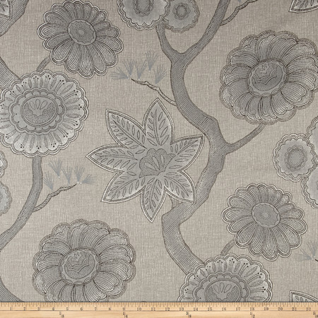 P Kaufmann Gloss Chintz Platinum Fabric By The Yard