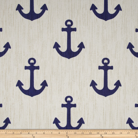 P. Kaufmann Indoor/Outdoor Ahoy Blue Marine Fabric By The Yard