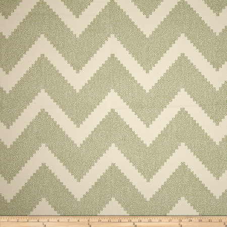 P Kaufmann Indoor/Outdoor Chevron Jacquard Leaf Fabric By The Yard