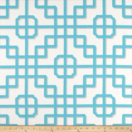 P Kaufmann Indoor/Outdoor Imperial Gate Turquoise Fabric By The Yard
