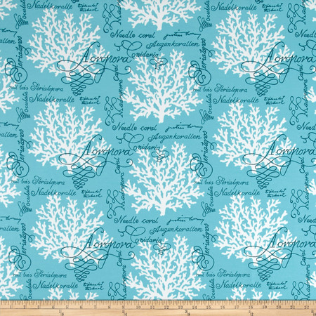 P Kaufmann Indoor/Outdoor Sea Reef Turquoise Fabric By The Yard
