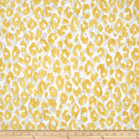 P Kaufmann Indoor/Outdoor Snow Leopard Sunburst Fabric By The Yard