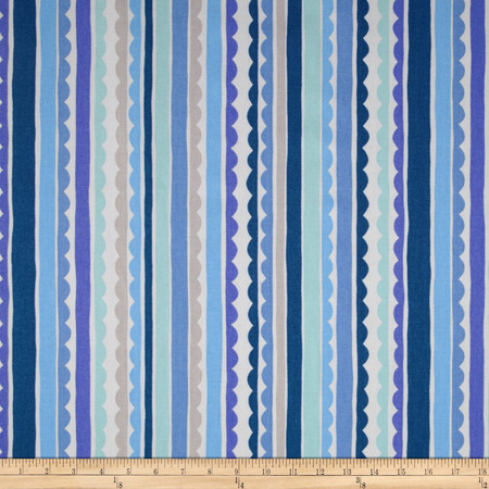 P Kaufmann Saray Stripe Blueberry Fabric By The Yard