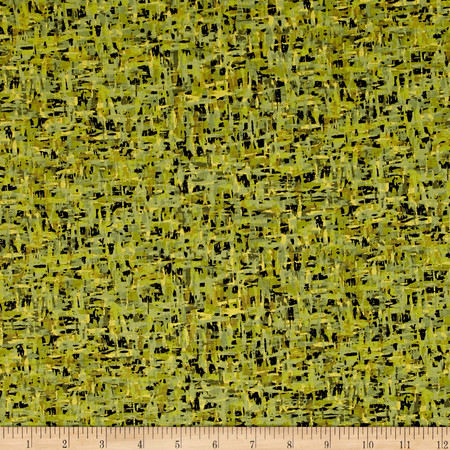 Palindromes Crosshatch Green/Olive Fabric By The Yard