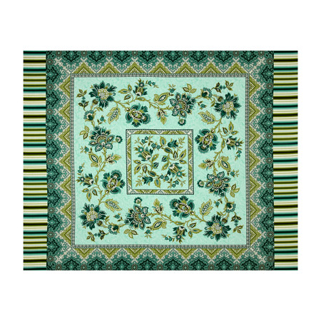 Palm Court 36 In. Panel Aqua Fabric By The Yard