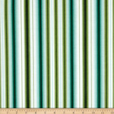 Palm Court Awning Stripe Aqua Fabric