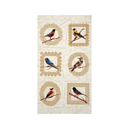 Paloma Bird 24'' Panel Fabric By The Yard