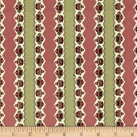 Past Endearments Floral Stripe Multi Fabric