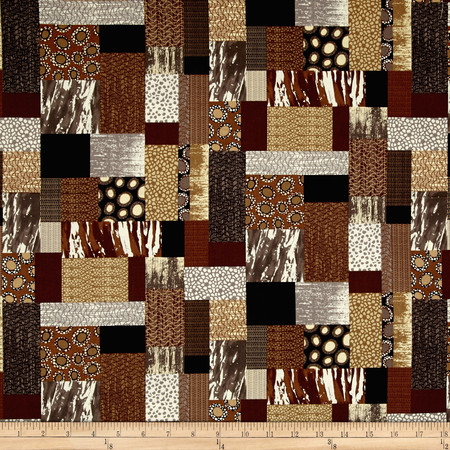 Patchwork Brown Fabric