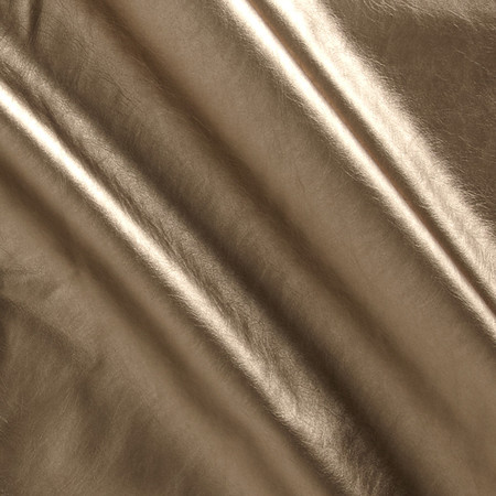 Telio Patina Faux Leather Knit Gold Fabric By The Yard