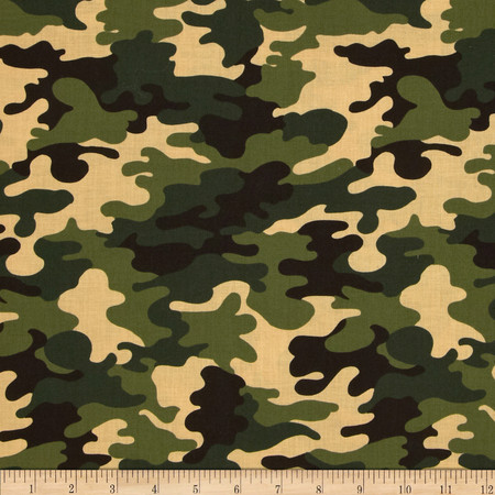 Patriots Camoflauge Jungle Fabric By The Yard