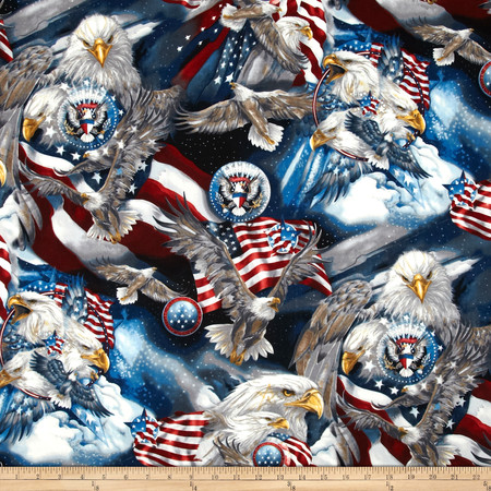 Patriots Eagles Americana Fabric By The Yard