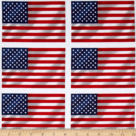 Paws for Valor All Over Flags Multi Fabric