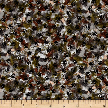 Paws for Valor Paws All Over Camouflage Multi Fabric