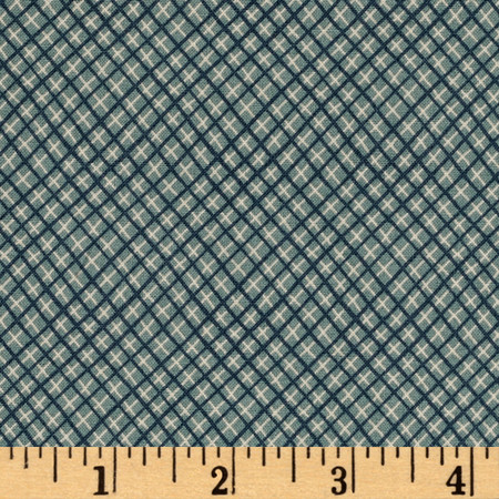 Peace On Earth Bias Plaid Light Blue Fabric By The Yard